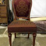 Гостиный стул 1960-е годы, Европа, дерево тонированный бук, ткань с вышивкой.