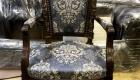 Рабочее кресло в стиле Людовика XIV реплика, конец XIX века. Отделка шеллак, ткань с вышивкой.
